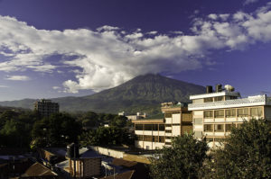 mount meru in background of Arusha city